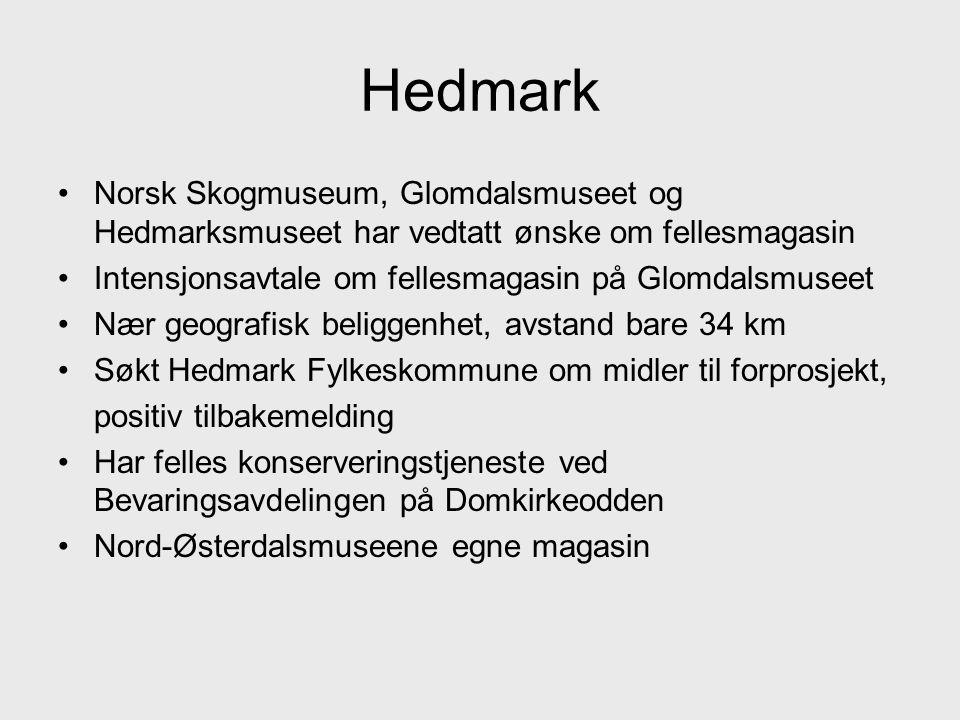 Hedmark Norsk Skogmuseum, Glomdalsmuseet og Hedmarksmuseet har vedtatt ønske om fellesmagasin. Intensjonsavtale om fellesmagasin på Glomdalsmuseet.