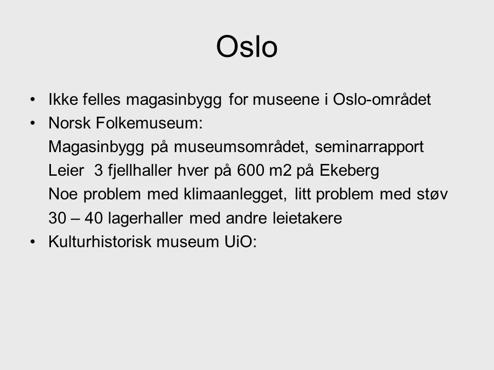 Oslo Ikke felles magasinbygg for museene i Oslo-området