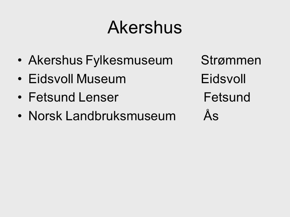 Akershus Akershus Fylkesmuseum Strømmen Eidsvoll Museum Eidsvoll