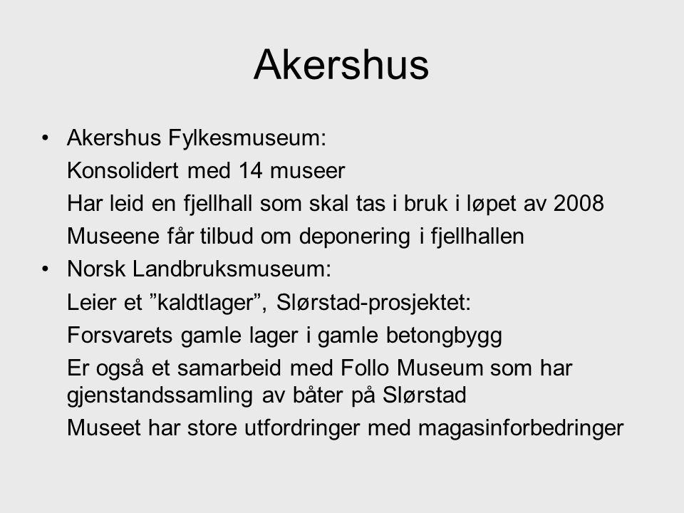 Akershus Akershus Fylkesmuseum: Konsolidert med 14 museer