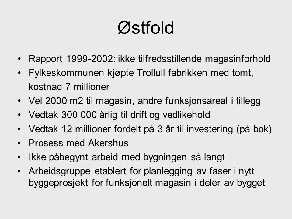 Østfold Rapport 1999-2002: ikke tilfredsstillende magasinforhold