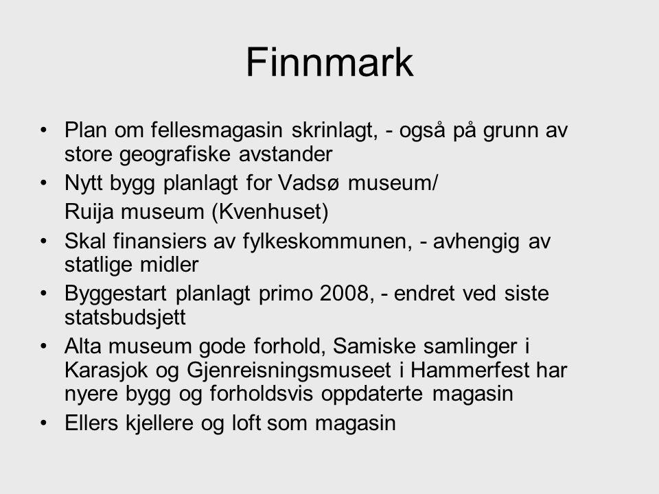 Finnmark Plan om fellesmagasin skrinlagt, - også på grunn av store geografiske avstander. Nytt bygg planlagt for Vadsø museum/