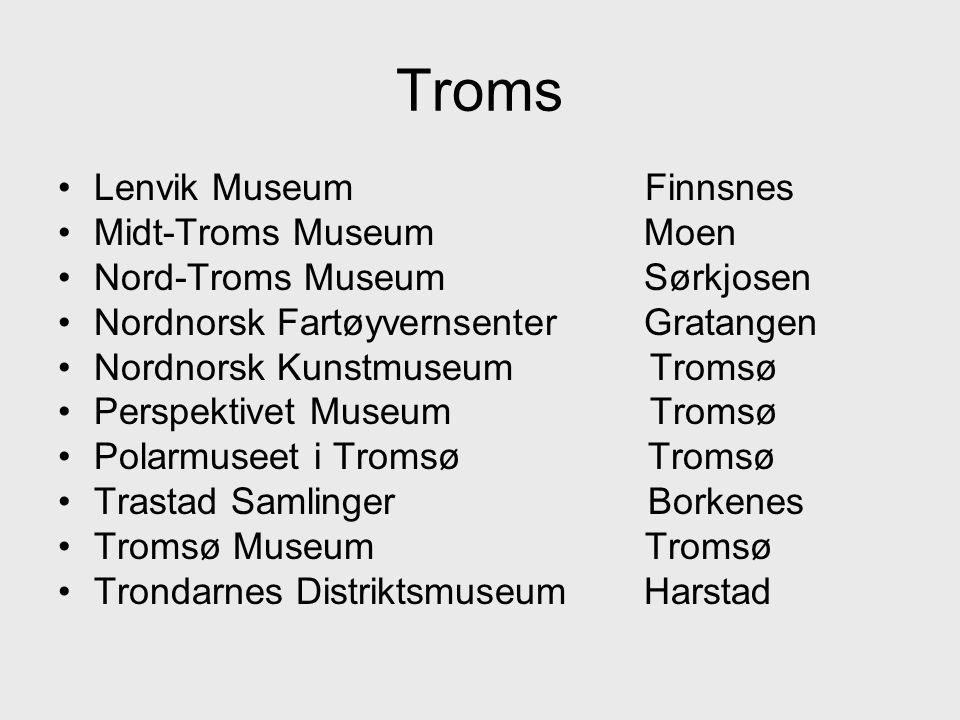 Troms Lenvik Museum Finnsnes Midt-Troms Museum Moen