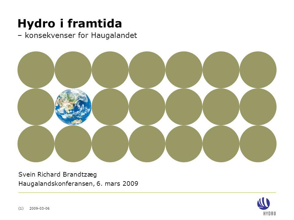 Svein Richard Brandtzæg Haugalandskonferansen, 6. mars 2009
