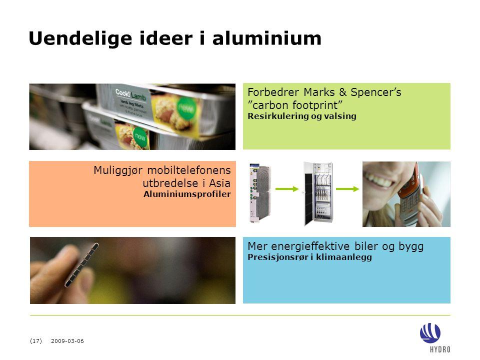 Uendelige ideer i aluminium