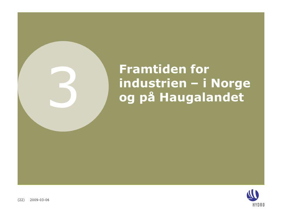 3 Framtiden for industrien – i Norge og på Haugalandet