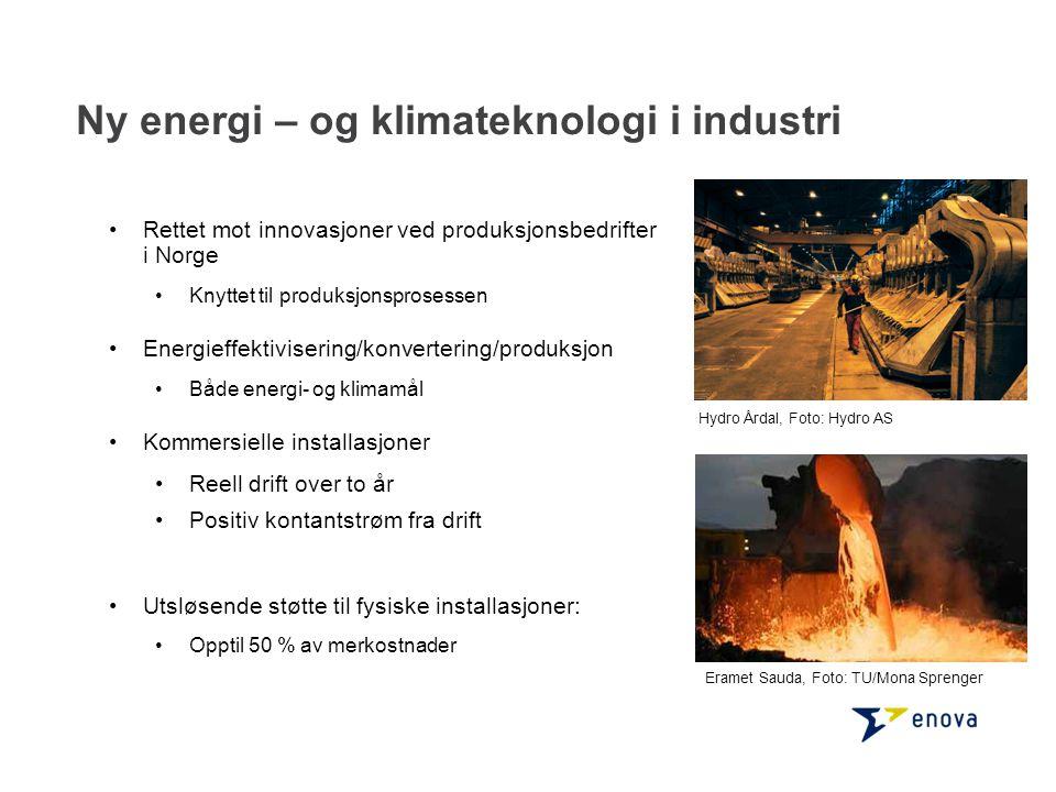 Ny energi – og klimateknologi i industri