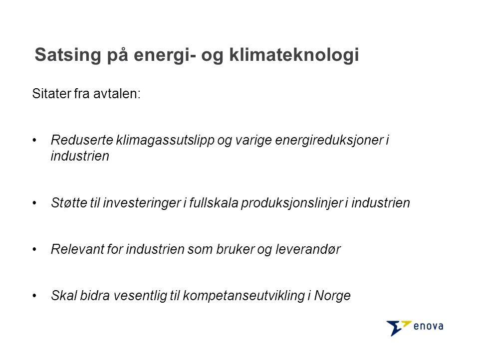 Satsing på energi- og klimateknologi