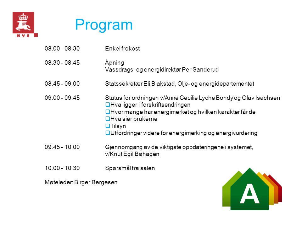 Program 08.00 - 08.30 Enkel frokost 08.30 - 08.45 Åpning