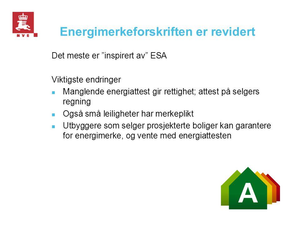 Energimerkeforskriften er revidert