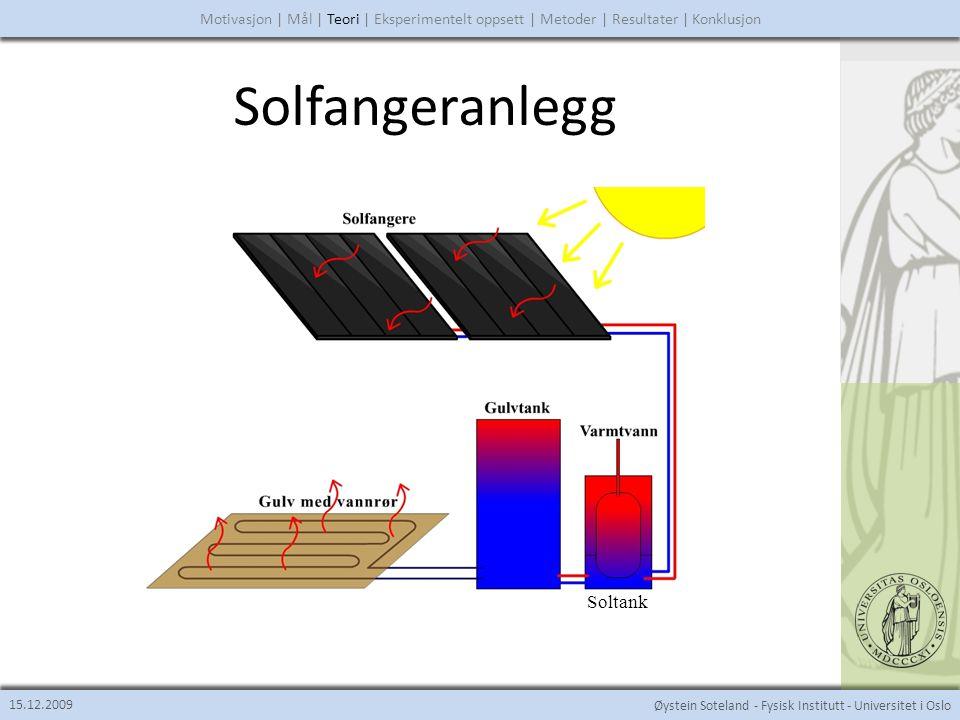 Solfangeranlegg Soltank