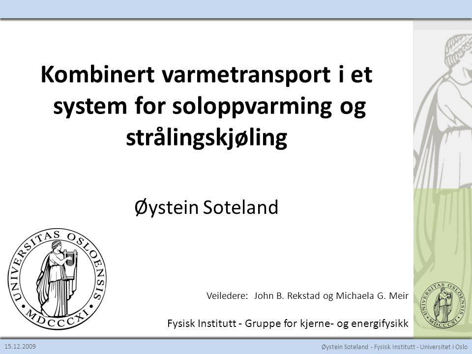Kombinert varmetransport i et system for soloppvarming og