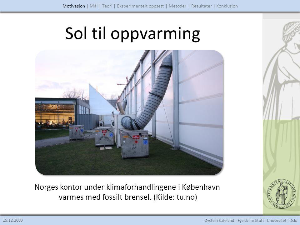 Sol til oppvarming Norges kontor under klimaforhandlingene i København