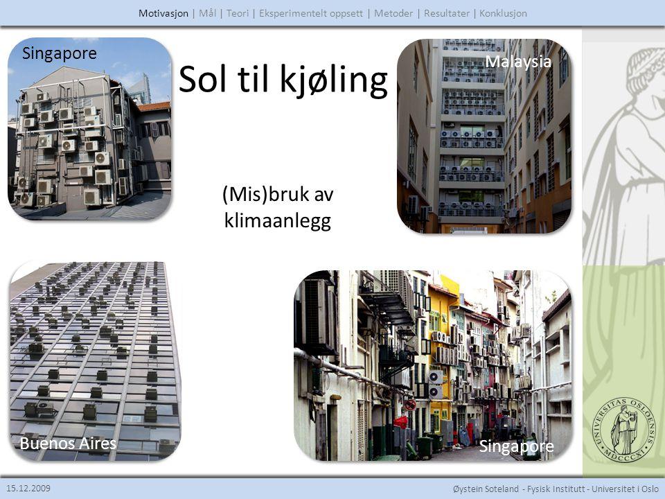 Sol til kjøling (Mis)bruk av klimaanlegg Singapore Malaysia