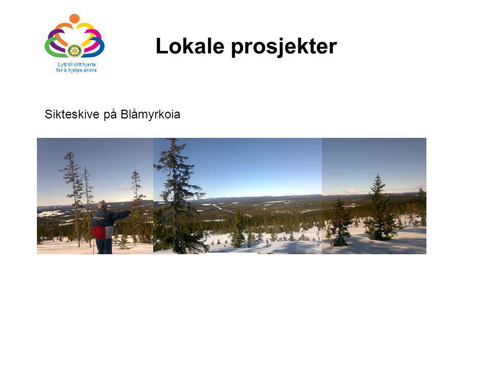 Lokale prosjekter Sikteskive på Blåmyrkoia Lytt til ditt hjerte