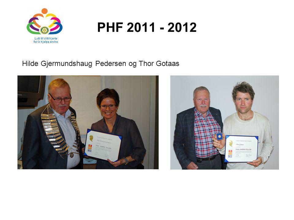 PHF 2011 - 2012 Hilde Gjermundshaug Pedersen og Thor Gotaas