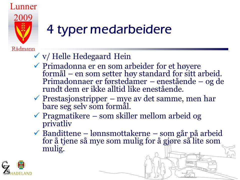 4 typer medarbeidere v/ Helle Hedegaard Hein