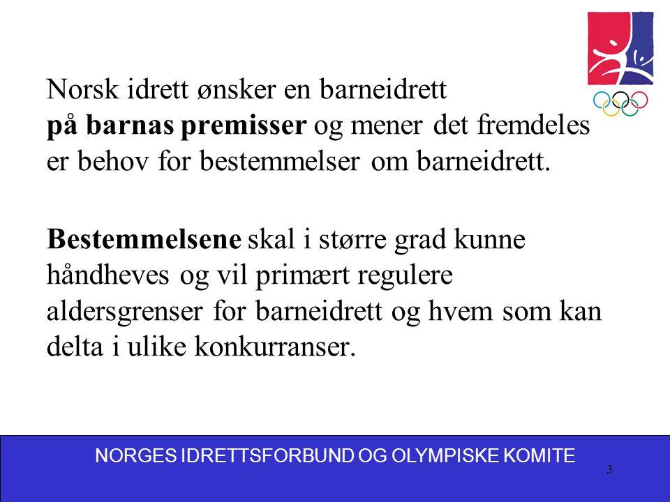 Norsk idrett ønsker en barneidrett