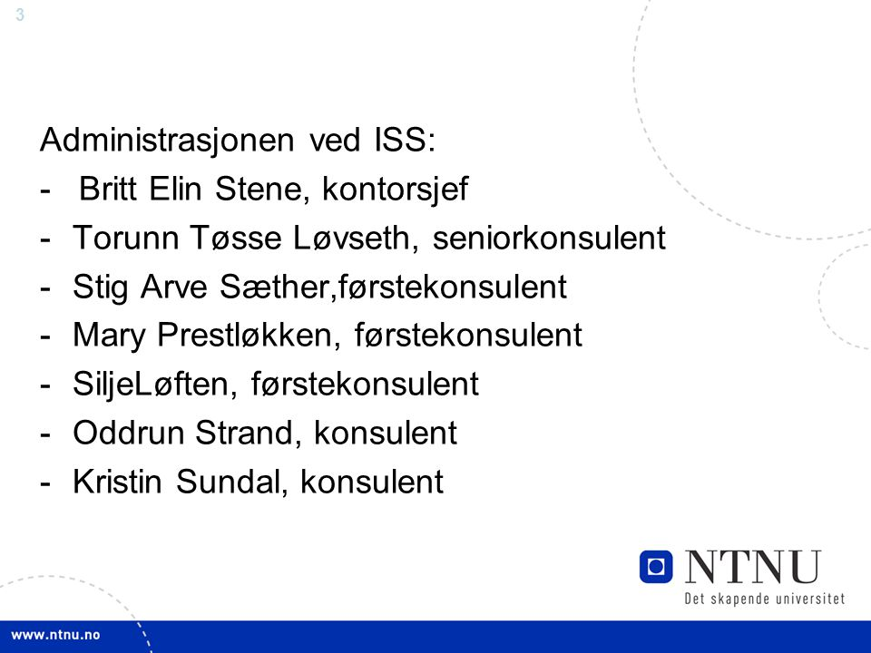Administrasjonen ved ISS: