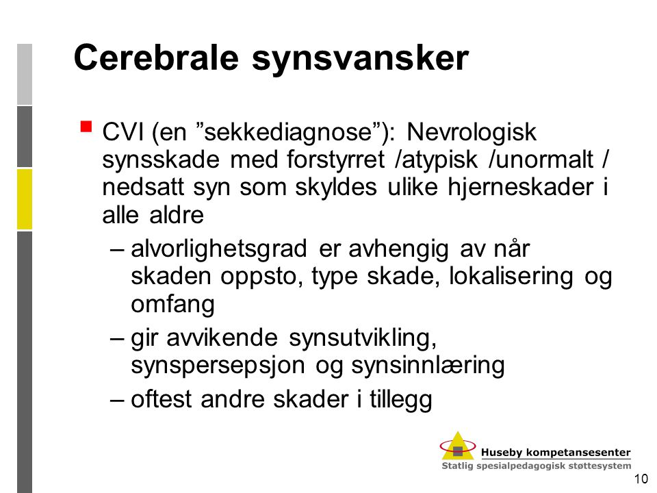 Cerebrale synsvansker