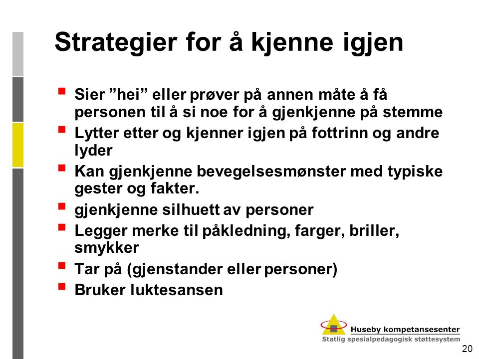 Strategier for å kjenne igjen
