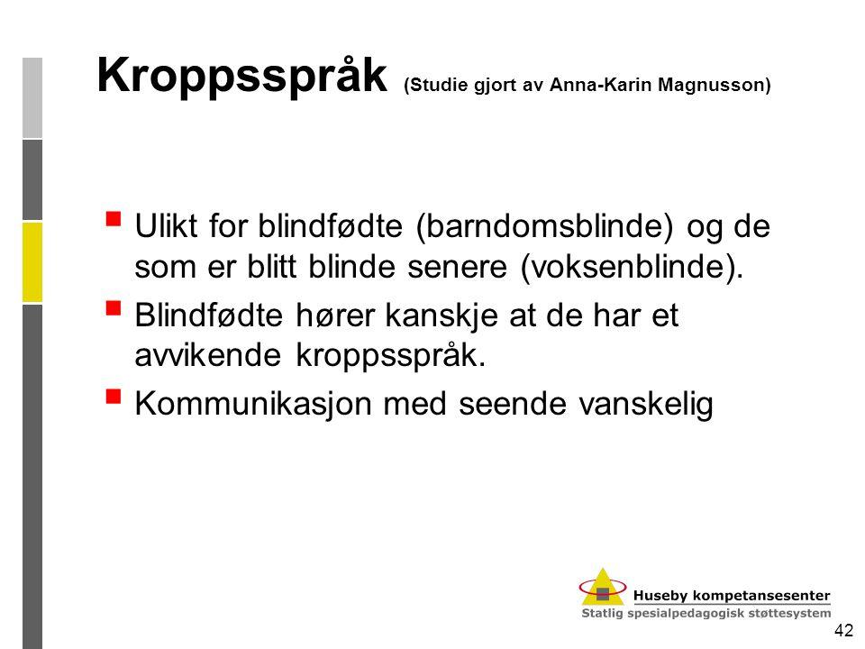 Kroppsspråk (Studie gjort av Anna-Karin Magnusson)