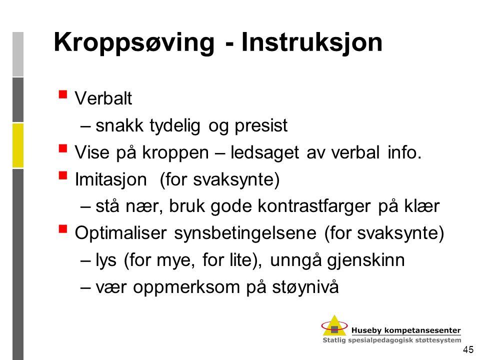 Kroppsøving - Instruksjon