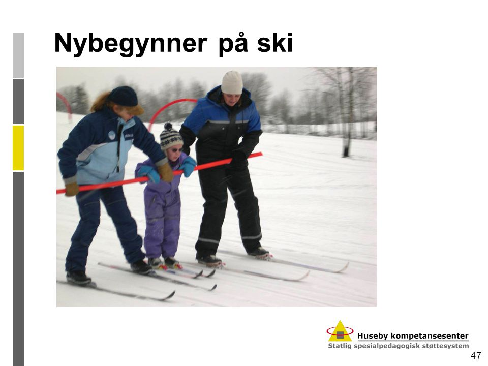 Nybegynner på ski