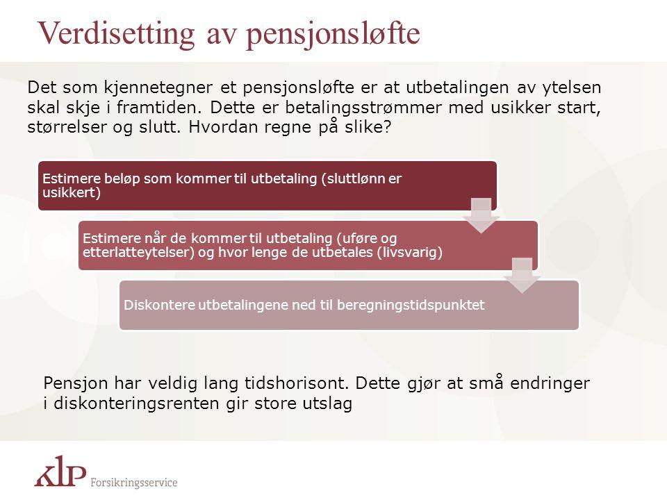 Verdisetting av pensjonsløfte
