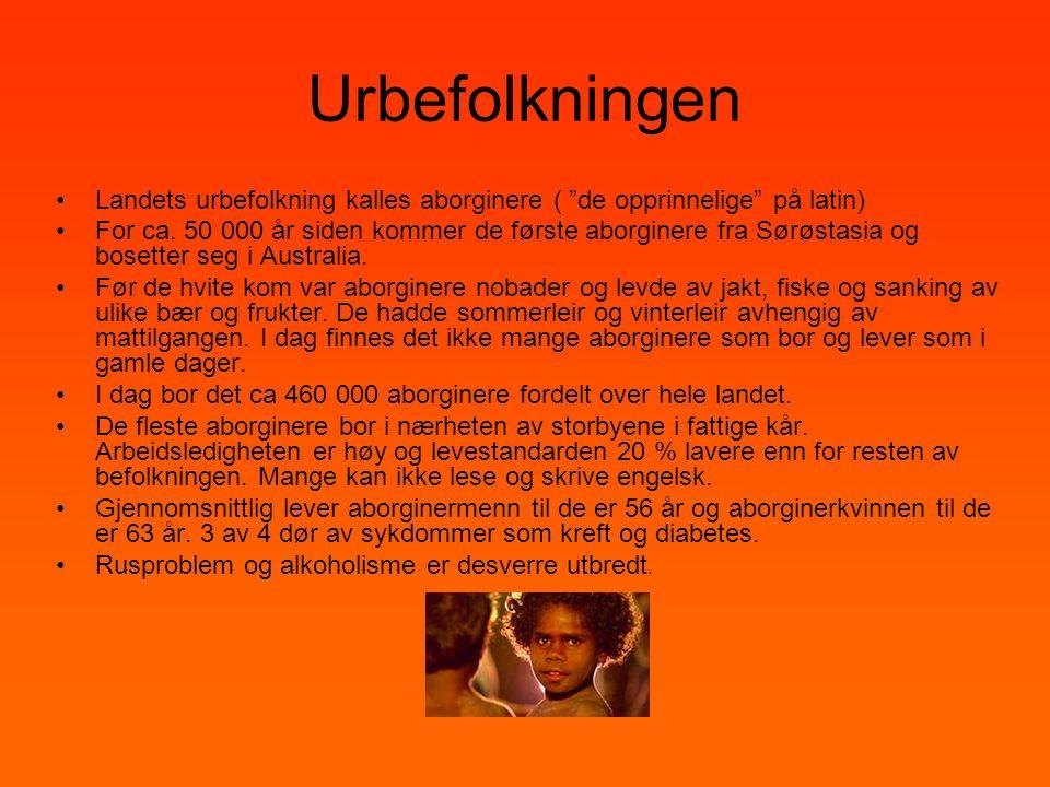 Urbefolkningen Landets urbefolkning kalles aborginere ( de opprinnelige på latin)
