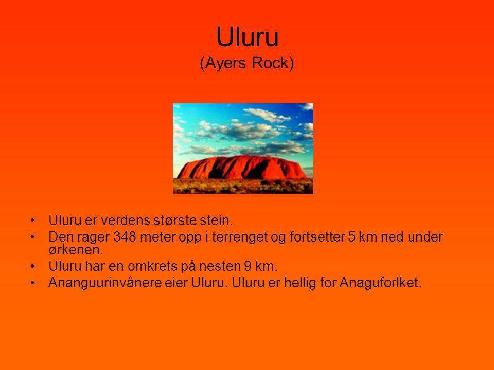 Uluru (Ayers Rock) Uluru er verdens største stein.