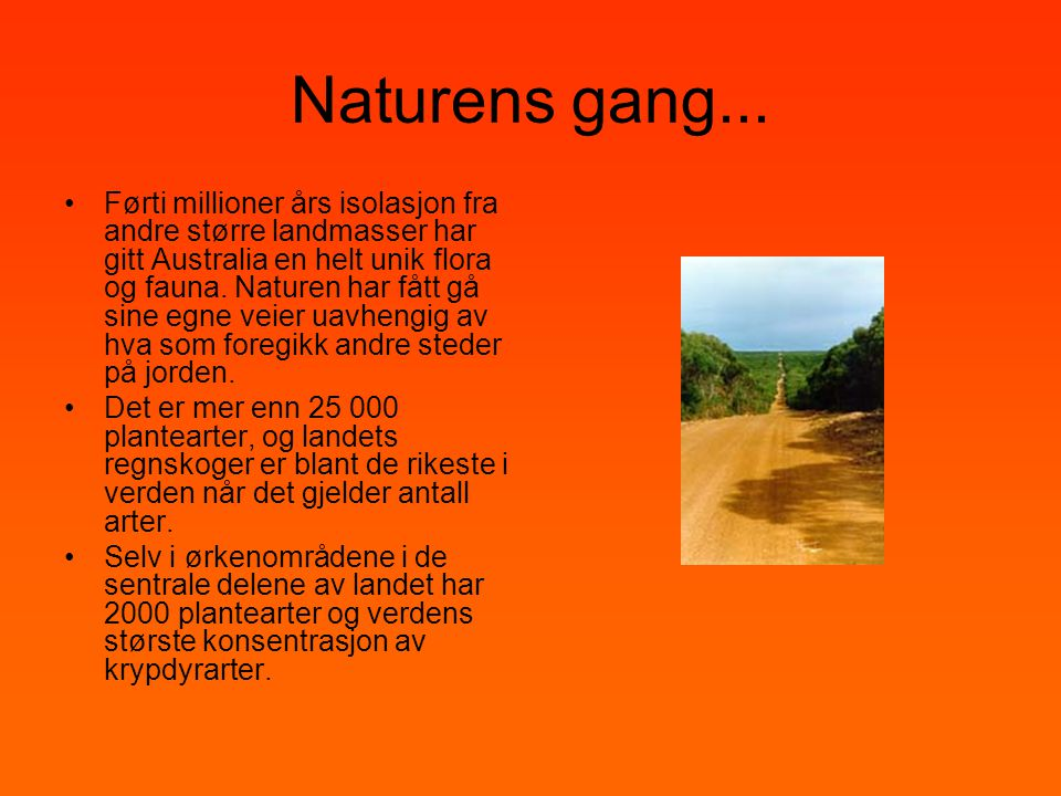 Naturens gang...