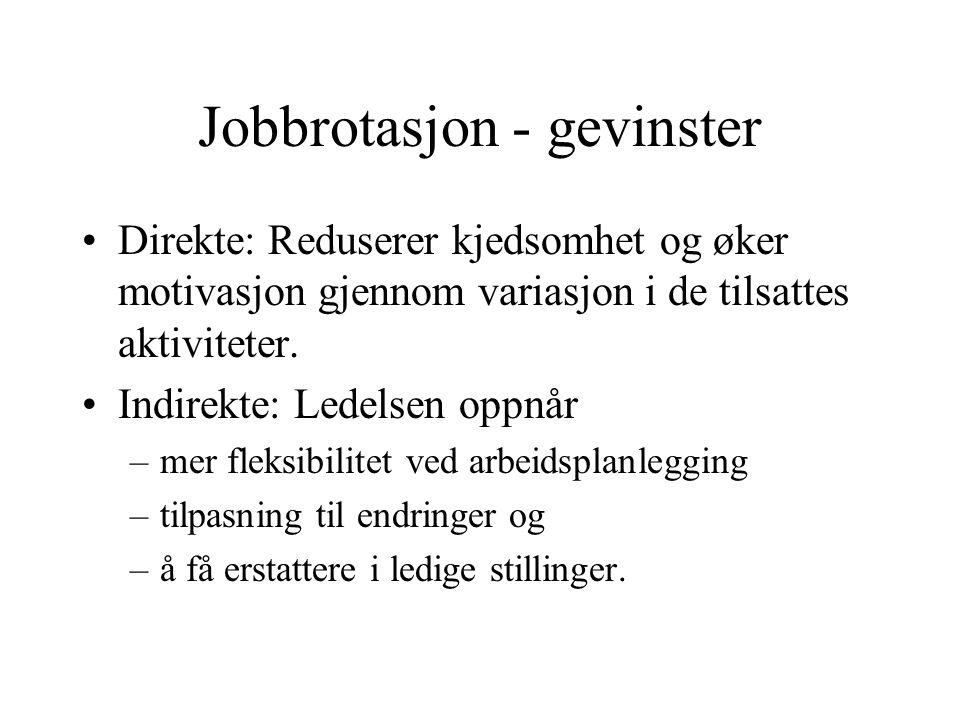 Jobbrotasjon - gevinster