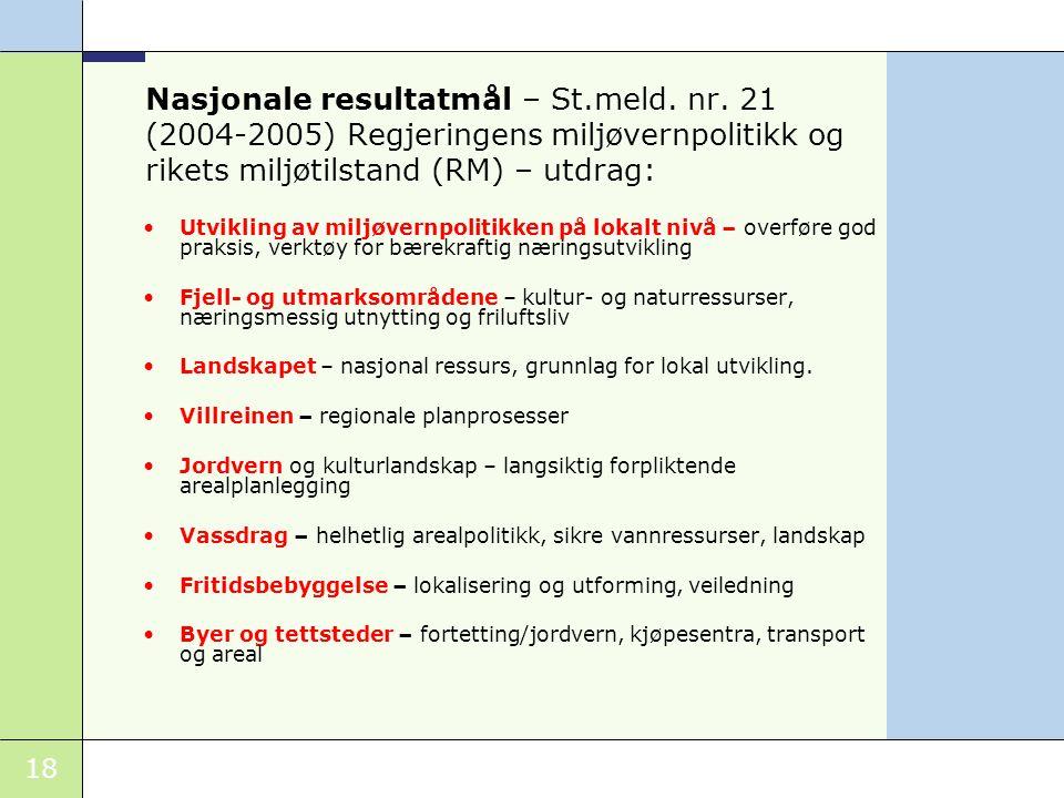 Nasjonale resultatmål – St. meld. nr