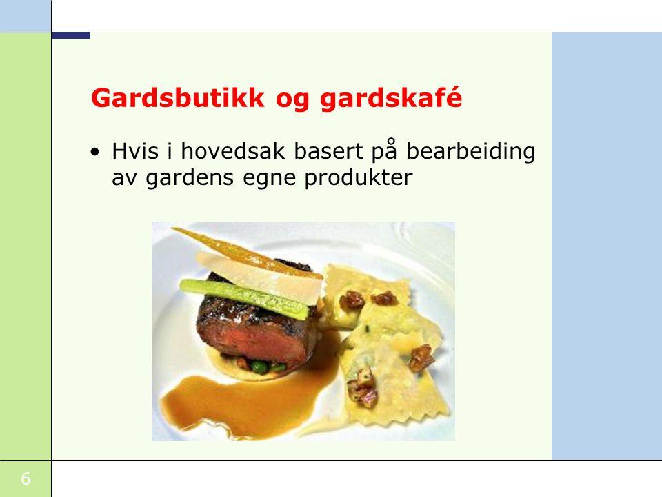 Gardsbutikk og gardskafé