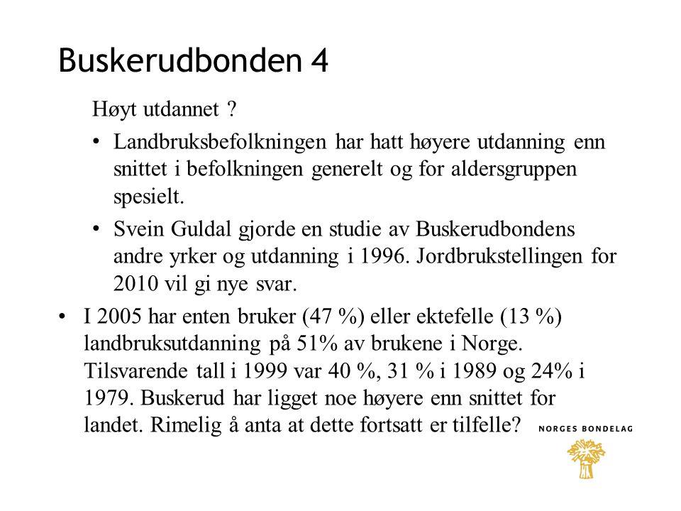 Buskerudbonden 4 Høyt utdannet