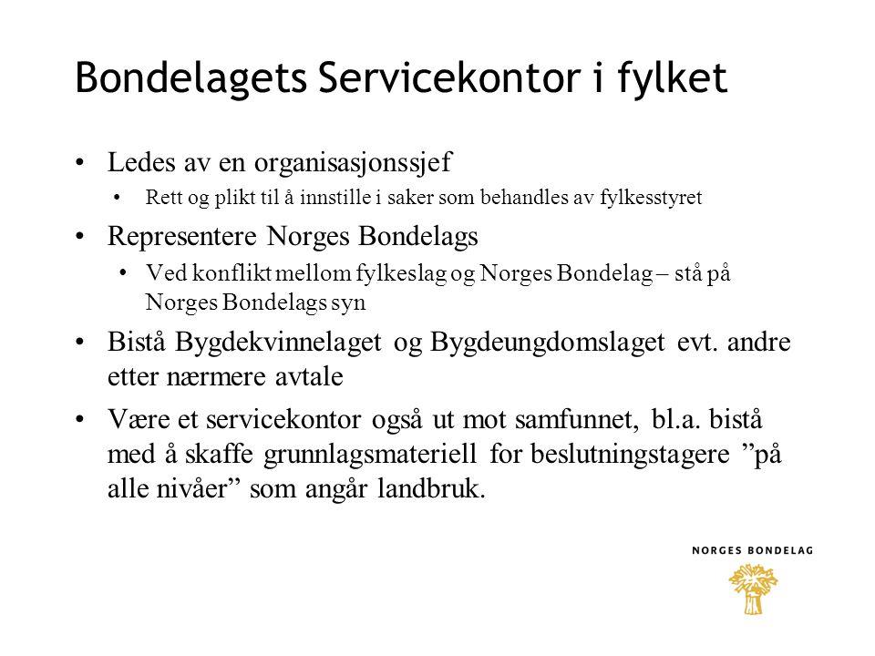 Bondelagets Servicekontor i fylket