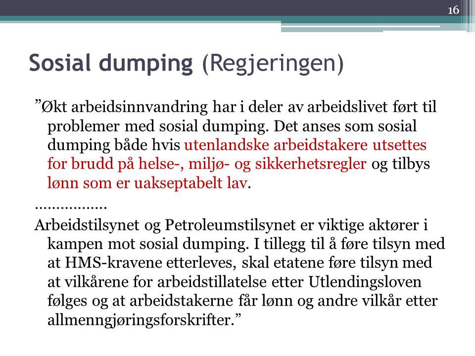 Sosial dumping (Regjeringen)