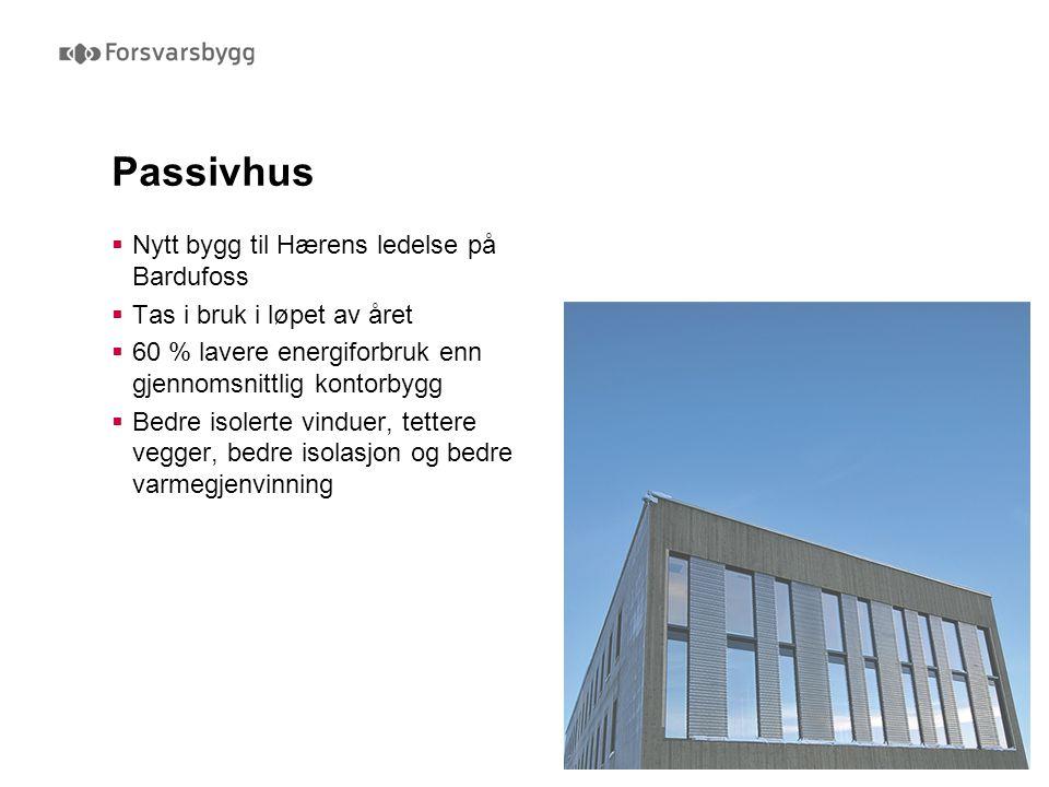 Passivhus Nytt bygg til Hærens ledelse på Bardufoss