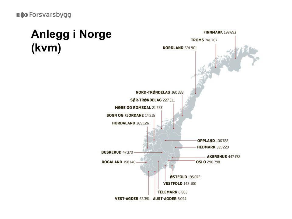 Anlegg i Norge (kvm)