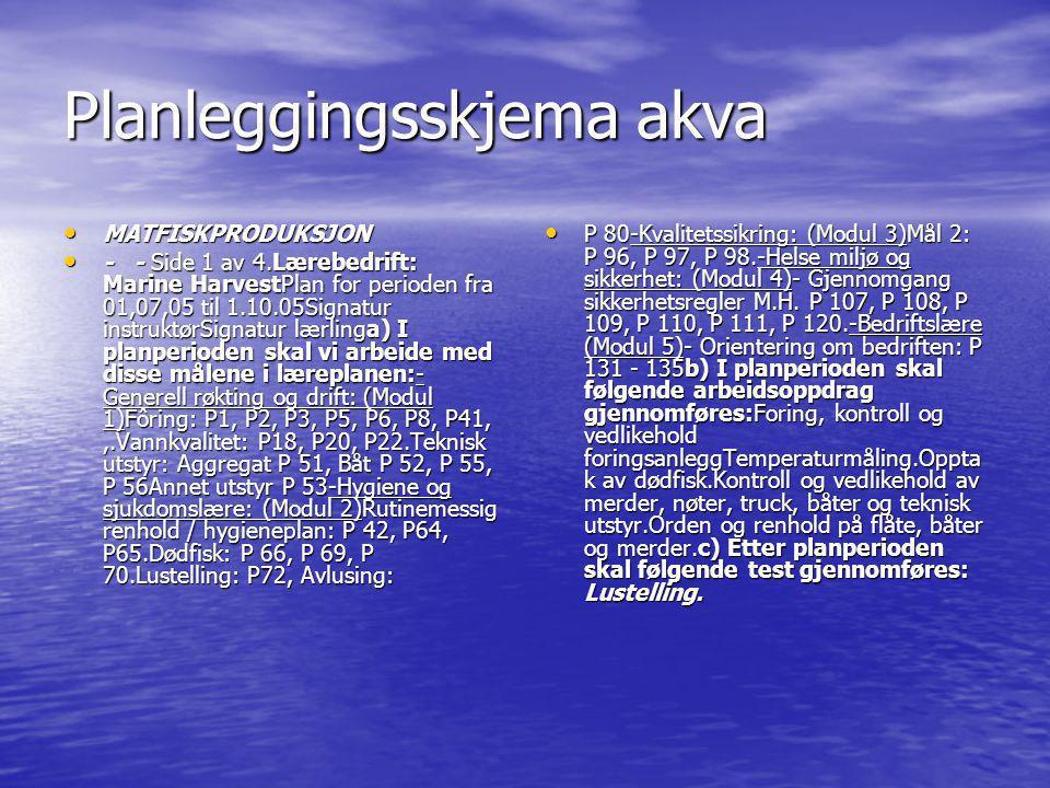 Planleggingsskjema akva