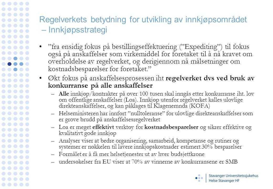 Regelverkets betydning for utvikling av innkjøpsområdet – Innkjøpsstrategi