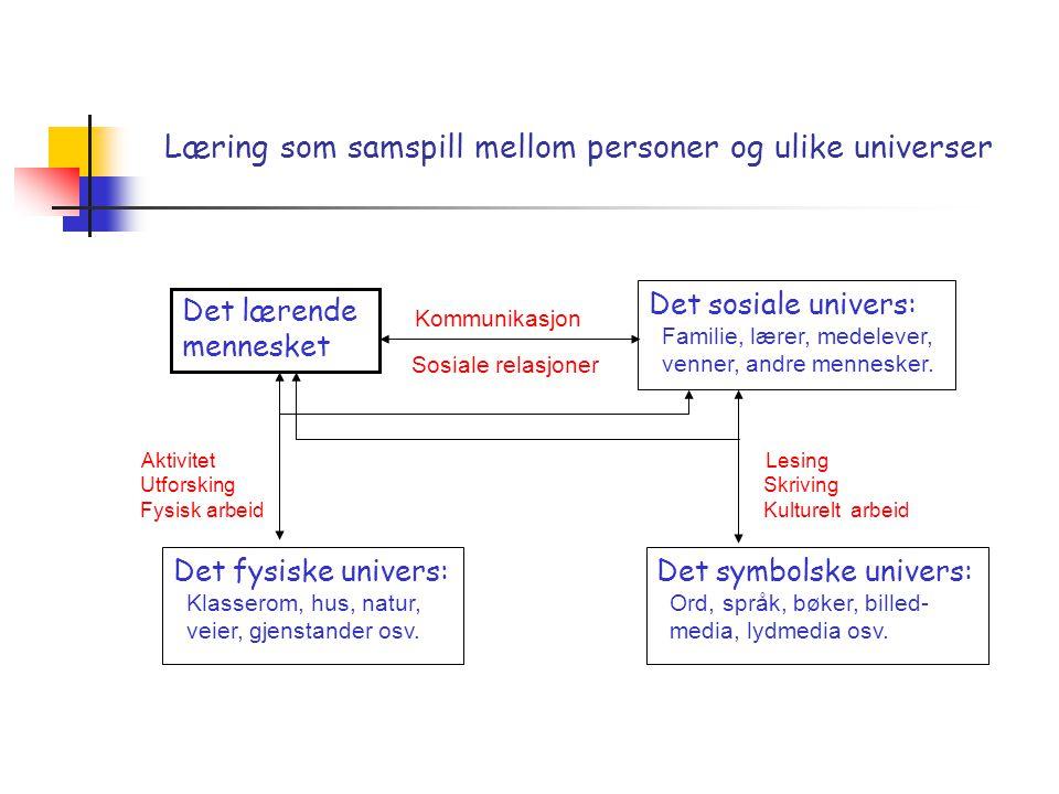 Læring som samspill mellom personer og ulike universer