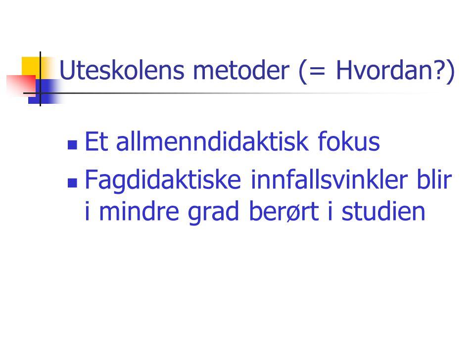 Uteskolens metoder (= Hvordan )
