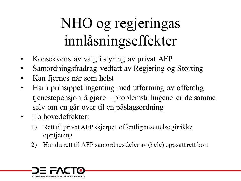 NHO og regjeringas innlåsningseffekter