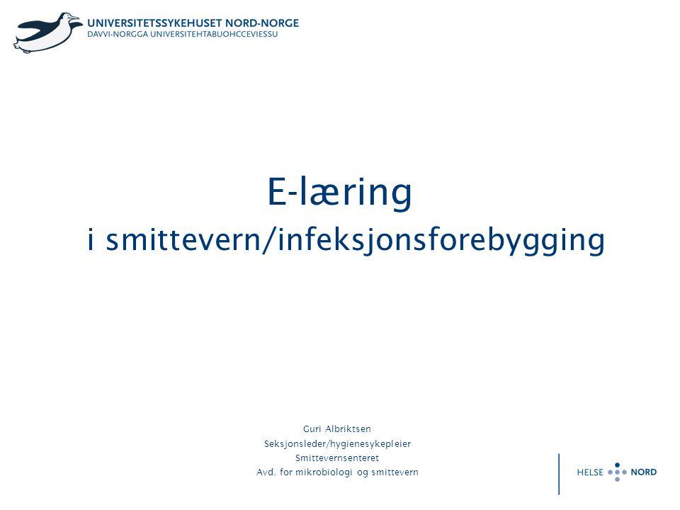 E-læring i smittevern/infeksjonsforebygging
