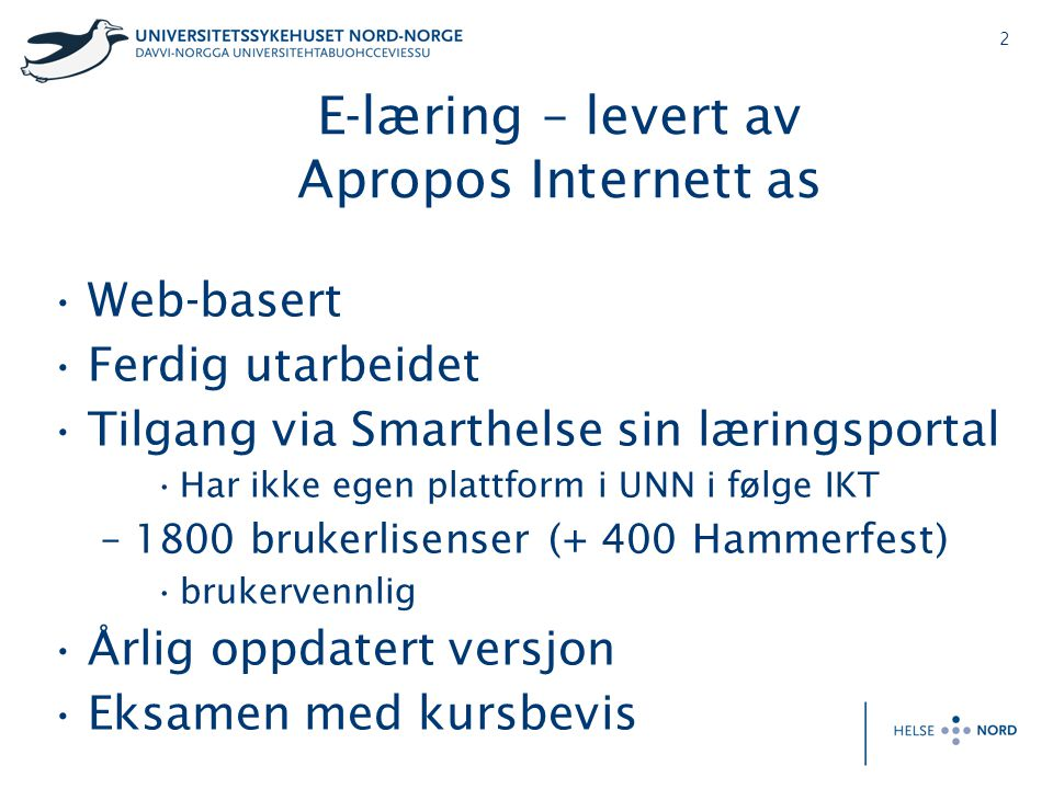 E-læring – levert av Apropos Internett as