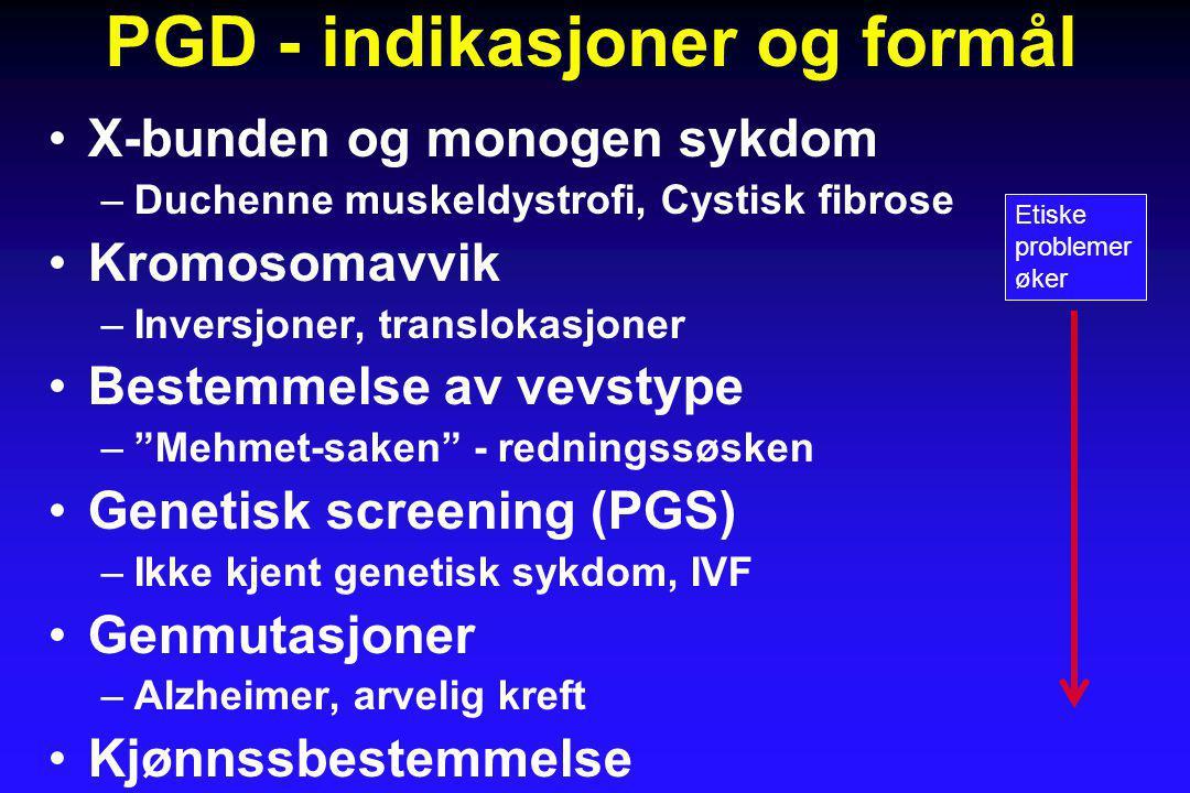 PGD - indikasjoner og formål