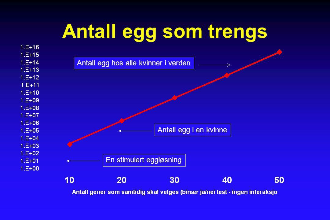 Antall egg som trengs Antall egg hos alle kvinner i verden