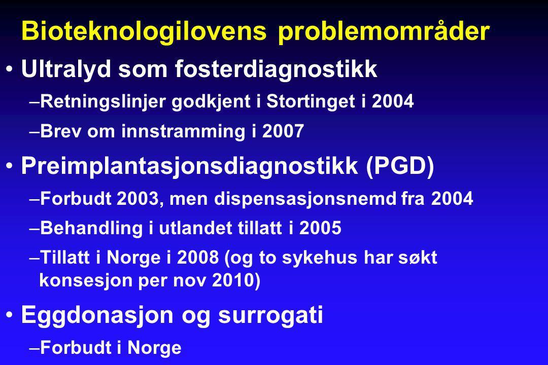 Bioteknologilovens problemområder